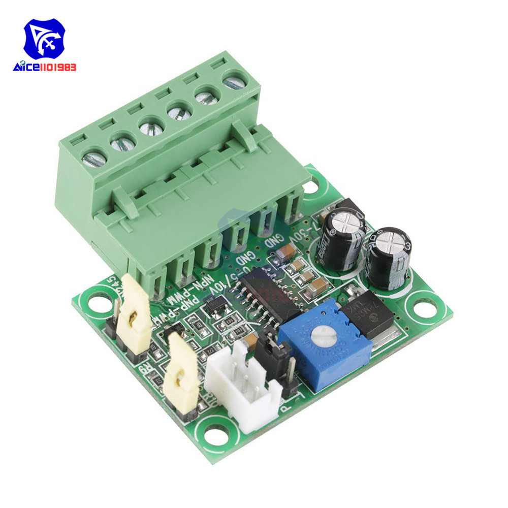 Diymore Analog Voltage To PWM Signal Converter 0-5V/0-10V Analog Input Voltage To 0-100% PWM Signal 2KHZ-20KHZ Converter Module