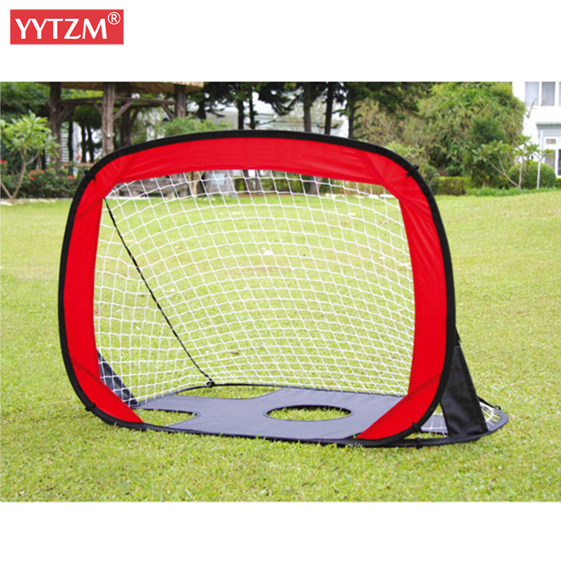 Children Net Set Football Gate Portable Foldable Target Training Goal Easy Folding Dual Use Outdoor Indoor Toy Soccer Equipment