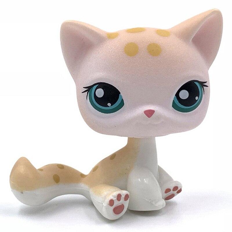 Лпс стоячки кошки Игрушки для кошек lps, редкие подставки, маленькие короткие волосы, котенок, розовый#2291, серый#5, черный#994,, коллекция фигурок для питомцев - Цвет: 224