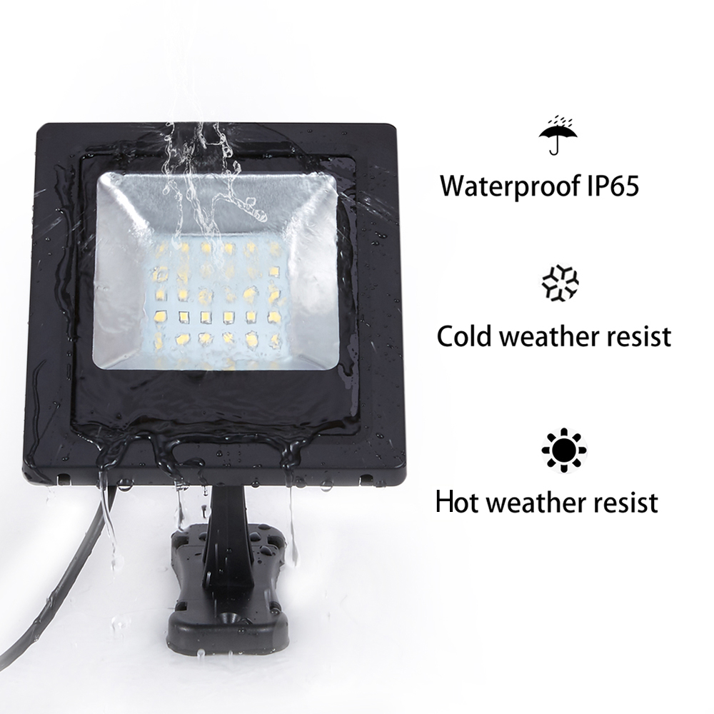Garden Solar Light 30LED With Panel 3Meters Cable Garden Floodlight Waterproof Wall Solar Lamp For Outdoor Lawn Lighting