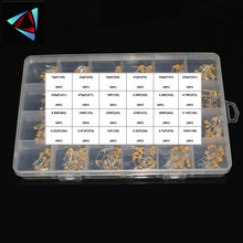 24values*20pcs =480pcs Monolithic Ceramic Capacitor 10pF~10uF,ceramic capacitor Assorted Kit + BOX