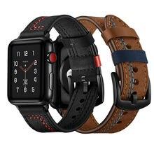Кожаный ремешок для часов apple watch 5 band 44 мм 40 38 42