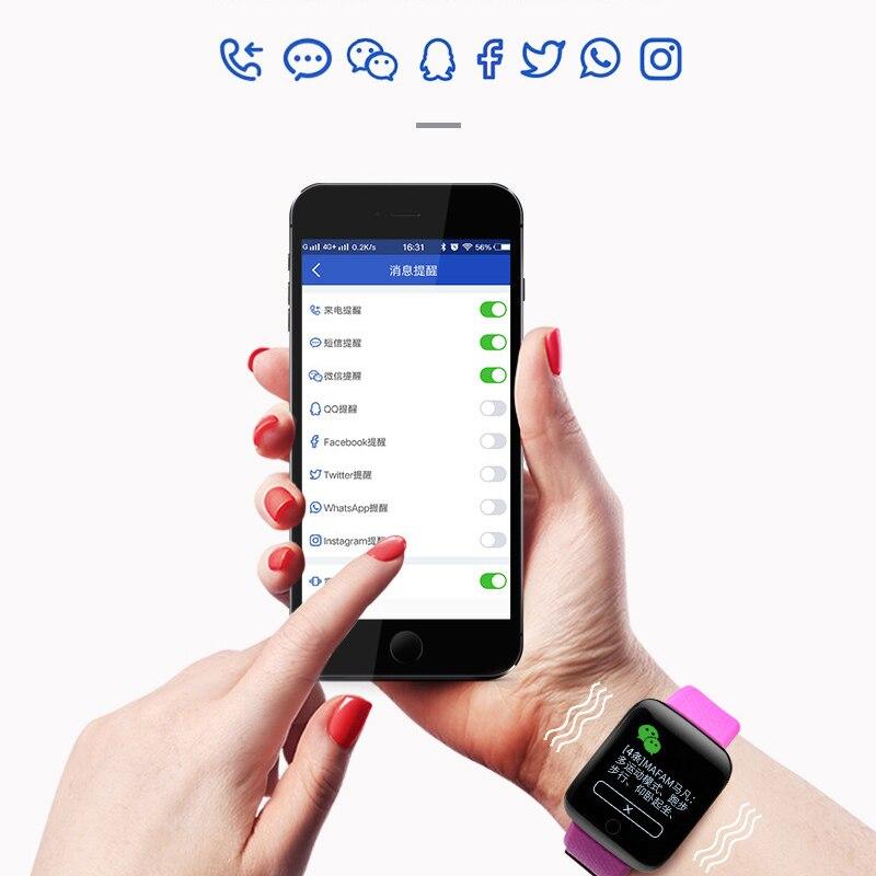 TEZER 116 Plus Smart Watches Men D13 Heart Rate Monitor Waterproof Fitness Tracker Pedometer Women Bracelet 116plus Wristband