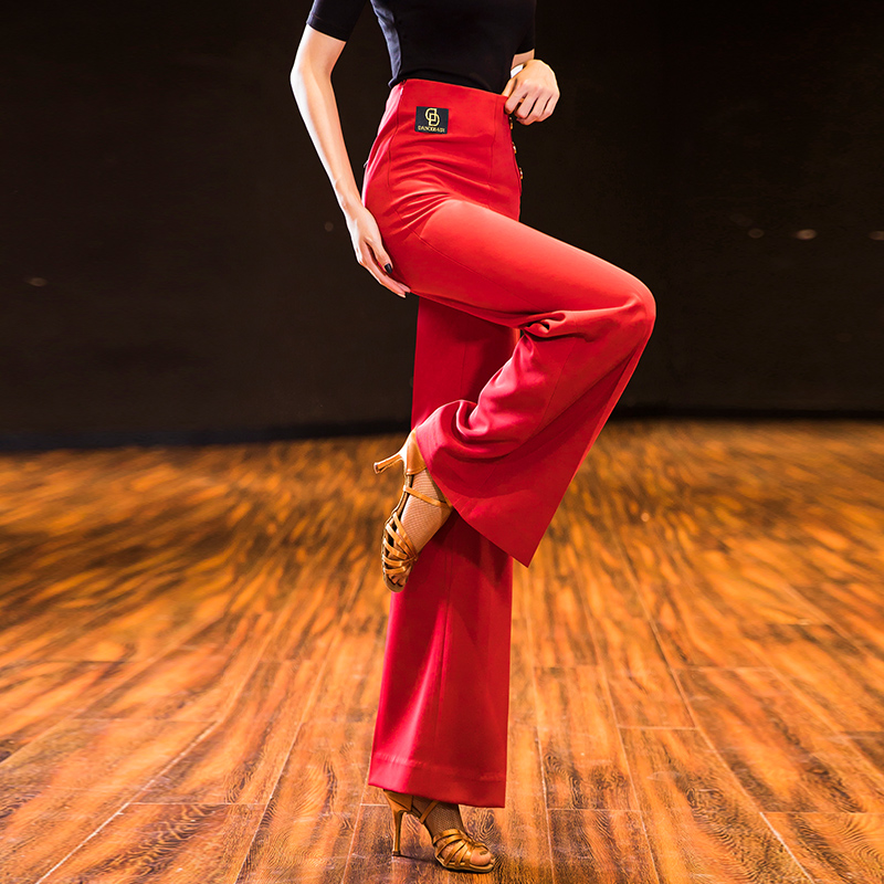 Ballroom Dance Pants Lady's Tango Waltz Dancing Costumes Women Ballroom Dance Competition Pants MD02