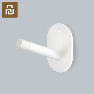 Image 1 - 샤오미 3PCS Mijia 8H 접착제 다기능 후크/벽 걸레 강한 후크 홀더 욕실 침실 부엌 벽 베어링 3kg에 대 한