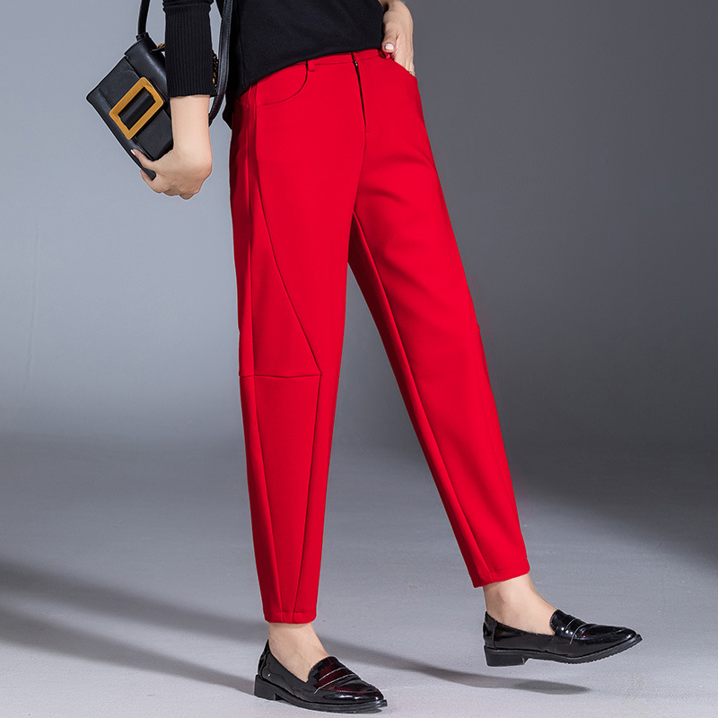2019 Autumn New Style Harem   Pants   Women's Thick   Capri   Skinny Baggy   Pants   WOMEN'S   Pants   Casual   Pants   Manufacturers 8921