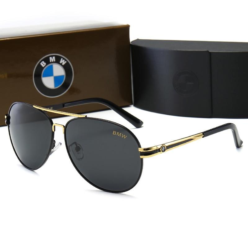 2019 New Style Men Metal Polarized Sunglasses Cross Border For Hot Selling Car Brand Glasses Big Box Aviator Sunglasses