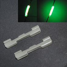 8pcs Night Fishing Rod Tip light holder Clip used on fishing rod for chemical light stick fishing tackle accessories B316 clip on 20pcs 10bags xl l m night fishing lighting stick wand green chemical glow stick fishing light stick fu020