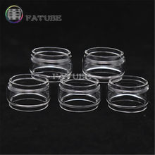 5pcs FATUBE bubble glass Cigarette Accessories for Eleaf ijust 2 21700 3 PRO S ECM nexgen kit Pyrex fatboy Glass tank(China)