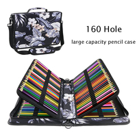 160 Hole Multi layer Sketch pencil Case Painting Multi function Pencil Bag Storage Pen Curtain Stationery Bag School Supplies