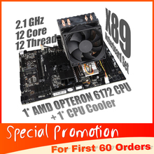 X89 Set Combo For AMD Motherboard G34 Socket with AMD Opteron 6172 CPU+ CPU Fan support  DDR3 Memory SATA2 USB 3.0