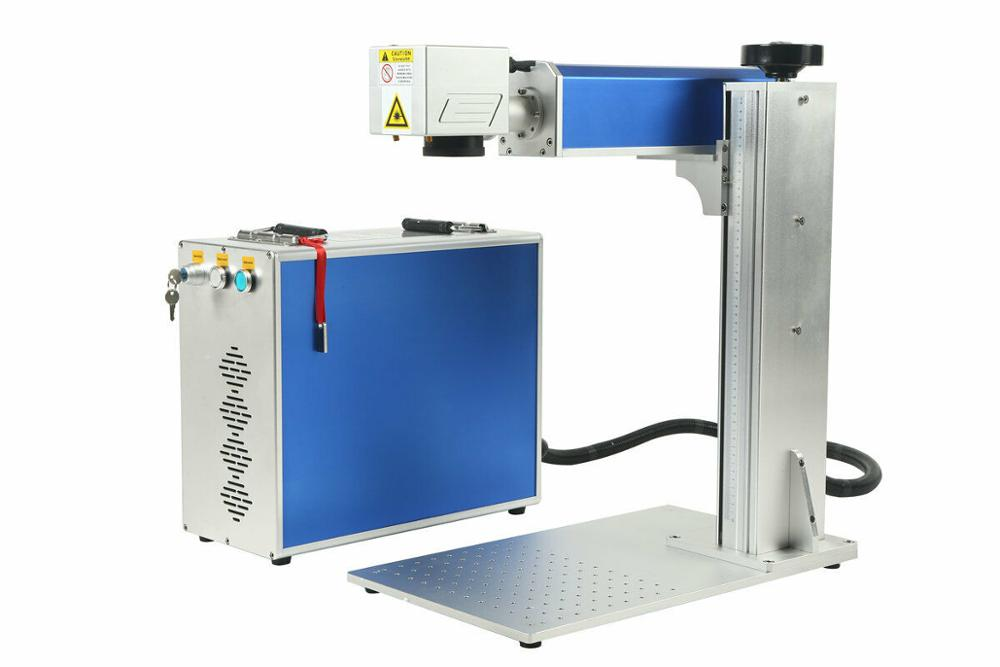 150x150mm Detached 30W Fiber Laser Marking Machine With Custom Marking Machine Rotation Axis  For Metal / Non-Metal Bestb