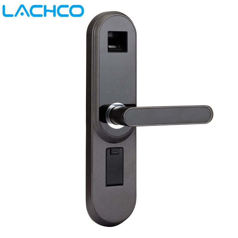 LACHCO Biometric Electronic Door Lock Smart , Code, Key Touch Screen Digital Password Fingerprint Lock For Home Office A18013FB