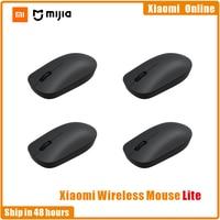 Disponibile Xiaomi Wireless Mouse Lite 2.4GHz 1000DPI Mouse ergonomico ottico portatile per Computer Mouse da gioco facile da trasportare 1-4 pezzi