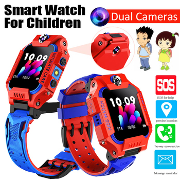 2020 New Dual Camera Kids Smart Watch for Children SmartWatch Baby Watches SOS Call Location Finder