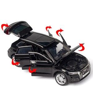 Image 5 - Diecast Toy Model 1:32 Schaal Nieuwe Audi Q5 Sport Suv Auto Met Pull Back Sound Light Kinderen Gift Collectie Gratis verzending