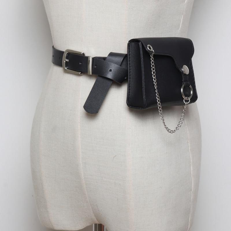 High Fashion 2020 Spring Stylish Belt Bag Trendy New Design Solid Waist Bag For Women Female All-match PU Leather Bag Tide ZK842