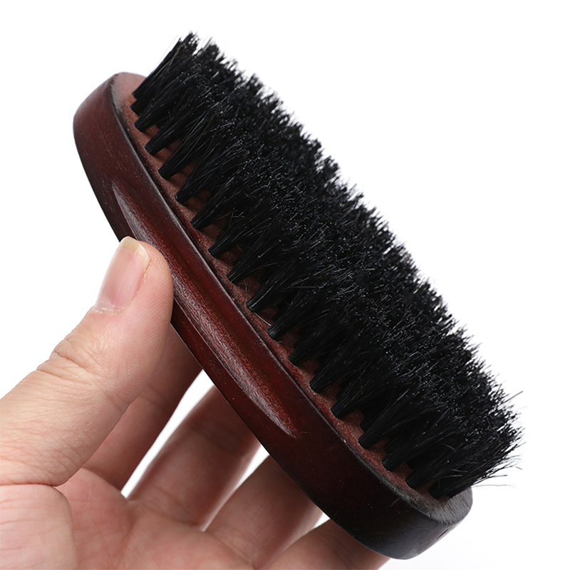 2020 New Natural Hemu Beard Brush For Men Bamboo Face Massage That Works Wonders To Comb Beards And Mustach