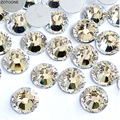 Стразы, SS2-SS50, белый, плоская задняя часть, стекло, алмаз для дизайна ногтей, украшения для телефона, оболочка, палочка, дрель, сделай сам, аксе...