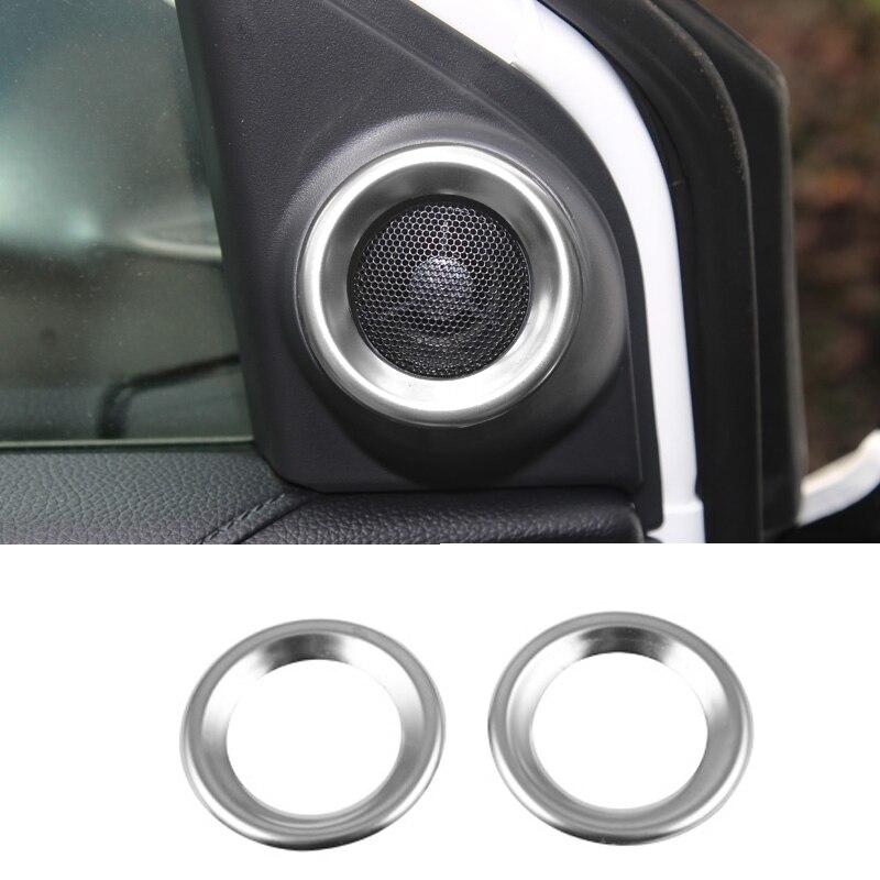 Pillar A Stereo Speaker Audio Decor Ring Cover Trim For Honda CRV CR-V 2017-2019
