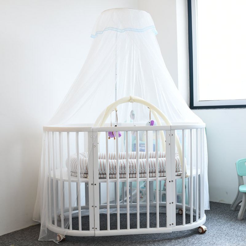 2m*5m Baby Bedding Crib Mosquito Net With Holder Round Toddler Bed Mesh Dome Curtain Baby Bedroom Mosquito Nets