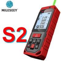 Mileseey-telémetro láser verde S2/S8G, medidor de distancia, cinta métrica de Telémetro Láser