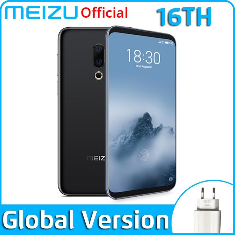Meizu 16th глобальная версия 6 ГБ 64 Гб мобильный телефон Snapdragon 845 Octa Core 16 Ом смартфон FHD большой Экран двойные задние Камера