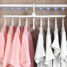 8 in 1 Folding clothes Hangers 360 Degree Rotating Multifunction Space Saving Storage Hanger Travel Magic hangers for