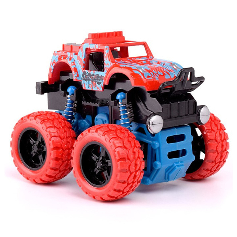 Baby Friction Power Four-wheeled Off-road Vehicle Diecast Model Inertial Car Toy Mini Inertial Rotatable Car Toys For Boys