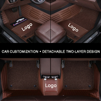 HLFNTF Full surround car floor mat  for Volvo S60L V40 V60 S60 XC60 XC90 XC60 C70 car accessories