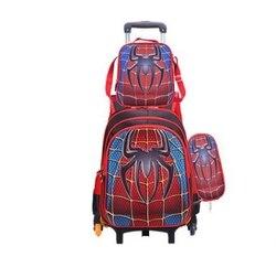 حقيبة العربة للمدرسة المتداول على ظهره حقيبة لفتاة الصبي مدرسة الاطفال عربة بعجلات مجموعة حقيبة ظهر الأطفال على ظهره مع عجلات
