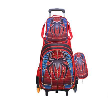 Trolley Bag For School Rolling Backpack Bag For Girl Boy School Kids Trolley Wheeled Backpack Set Children Backpack With Wheels