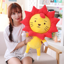 25cm/30cm/50cm Simulation Sunflower Lion Plush Toy Soft Cartoon Animal Lion Stuffed Doll Window Suction Cup Pendant Kid Gift new simulation lion toy handicraft lifelike lion doll with a small lion in the mouth gift about 50x33cm