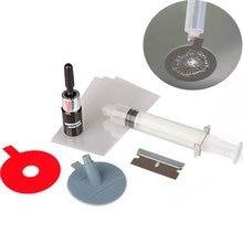 Kit de reparación de parabrisas de coche, herramienta de reparación de parabrisas agrietado de vidrio, sellador de resina, bricolaje, pulido de pantalla de ventana automática