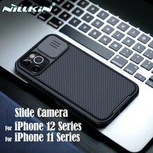 Dla iPhone 12 11 Pro Max Case NILLKIN CamShield Case osłona kamery slajdowej chroń prywatność klasyczna tylna pokrywa dla iPhone11 12 mini