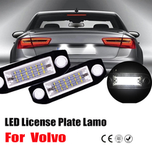 2Pcs 6000k Car LED License Plate Light White Car-Styling Number Lamp for Volvo S80 XC90 S40 V60 XC60 S60 C70 V50 XC70 V70 car computer screen display projector refkecting windshield for volvo c70 s40 s60 s70 s80 s90 v40 v70 v90 xc70 driving screen