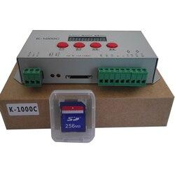 K 1000C (T 1000S zaktualizowany) kontroler WS2812B  WS2811  APA102  SK6812  2801 LED 2048 pikseli kontroler programu DC5 24V|Kontrolery RGB|Lampy i oświetlenie -