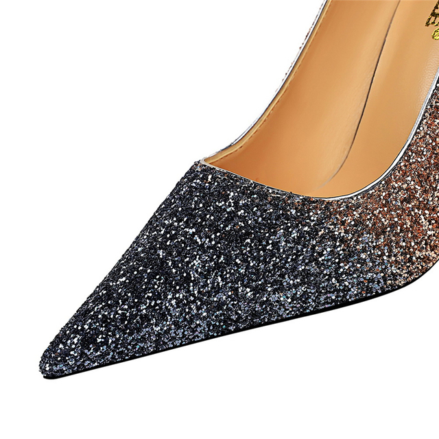 Luxury  Colorful Sparkly Sequin Pumps  5