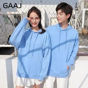 Image 2 - GAAJ 100 bawełna mężczyźni bluzy kobiety odzież wierzchnia wysokiej jakości mężczyzna jesień wiosna Harajuku Hip Hop casualowe w stylu Streetwear marka fioletowy różowy
