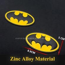 1 pçs 3d metal bat logotipo emblema adesivos carro auto emblema emblema adesivo estilo do carro acessórios da motocicleta tuning carro-estilo