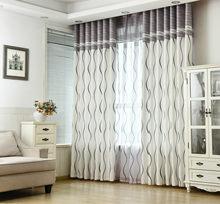 Zasłony do salonu jadalnia sypialnia klasyczne czarno-białe paski płaskie nadrukowane kurtyny ochrony środowiska