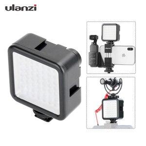 Ulanzi 8см мини светодиодный свет подсветка для камеры, камерный свет с 3 Горячих башмаков фотографическая лампа Освещение для Nikon canon Sony DSLR,осве...