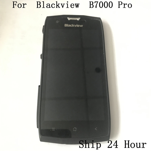 الأصلي Blackview BV7000 برو تستخدم شاشة الكريستال السائل شاشة تعمل باللمس الإطار واجهة المطاط سدادة ل Blackview BV7000 برو