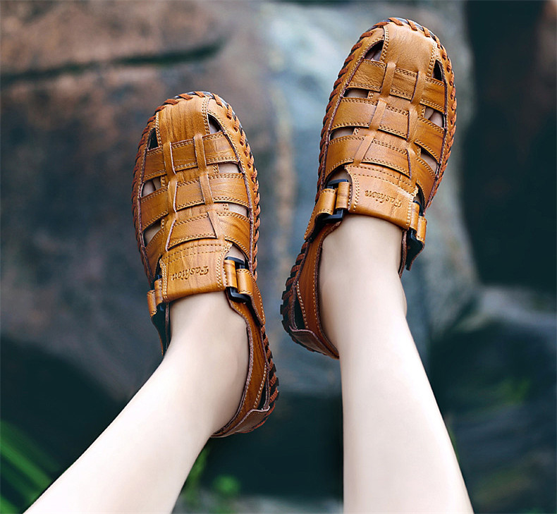 sapatos masculinos, casual, respirável, para caminhada ao ar livre, verão 2019