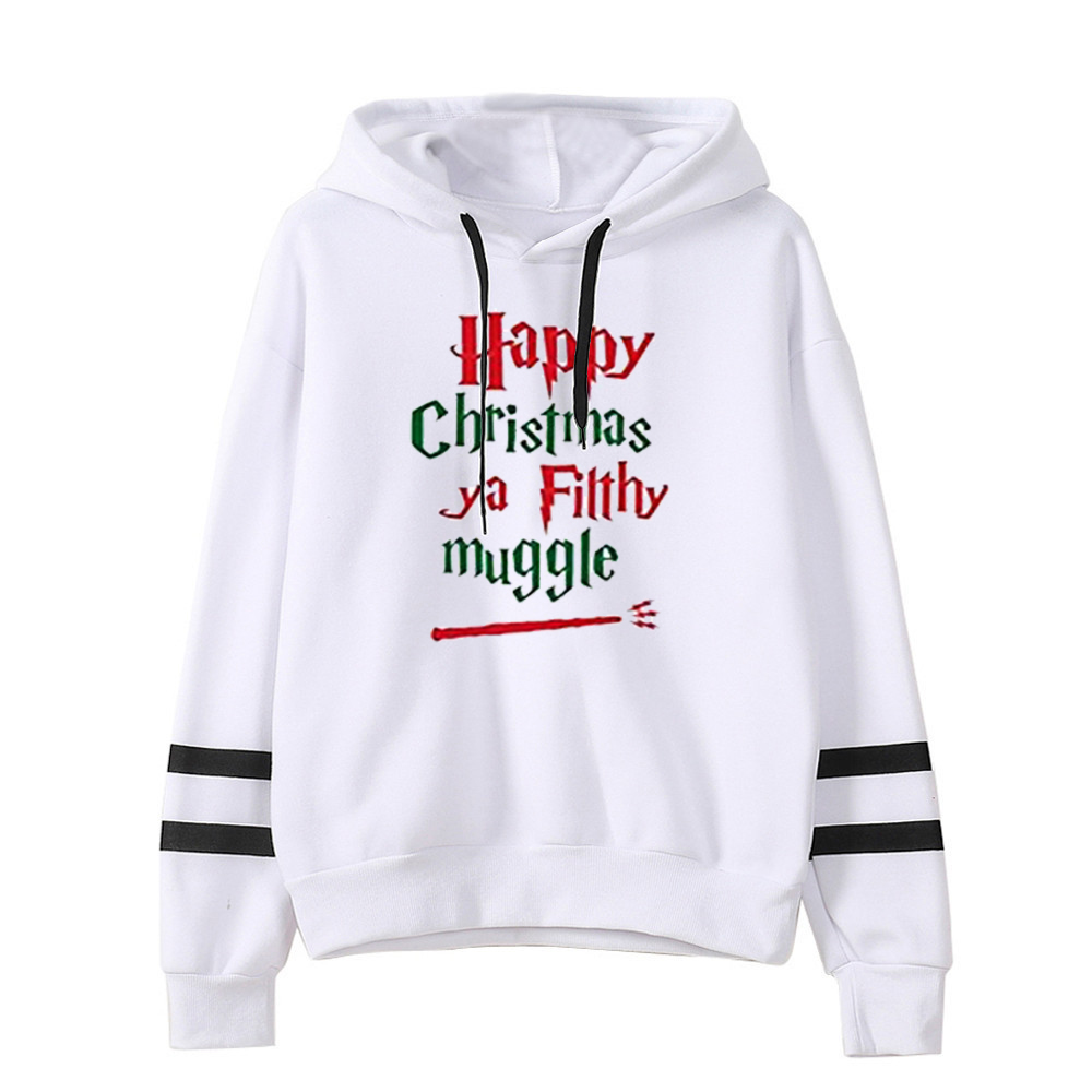 Merry Christmas Women Hoodies Plus Size Woman Clothes Streetwear Oversized Casual Print Pullovers Christmas 2019