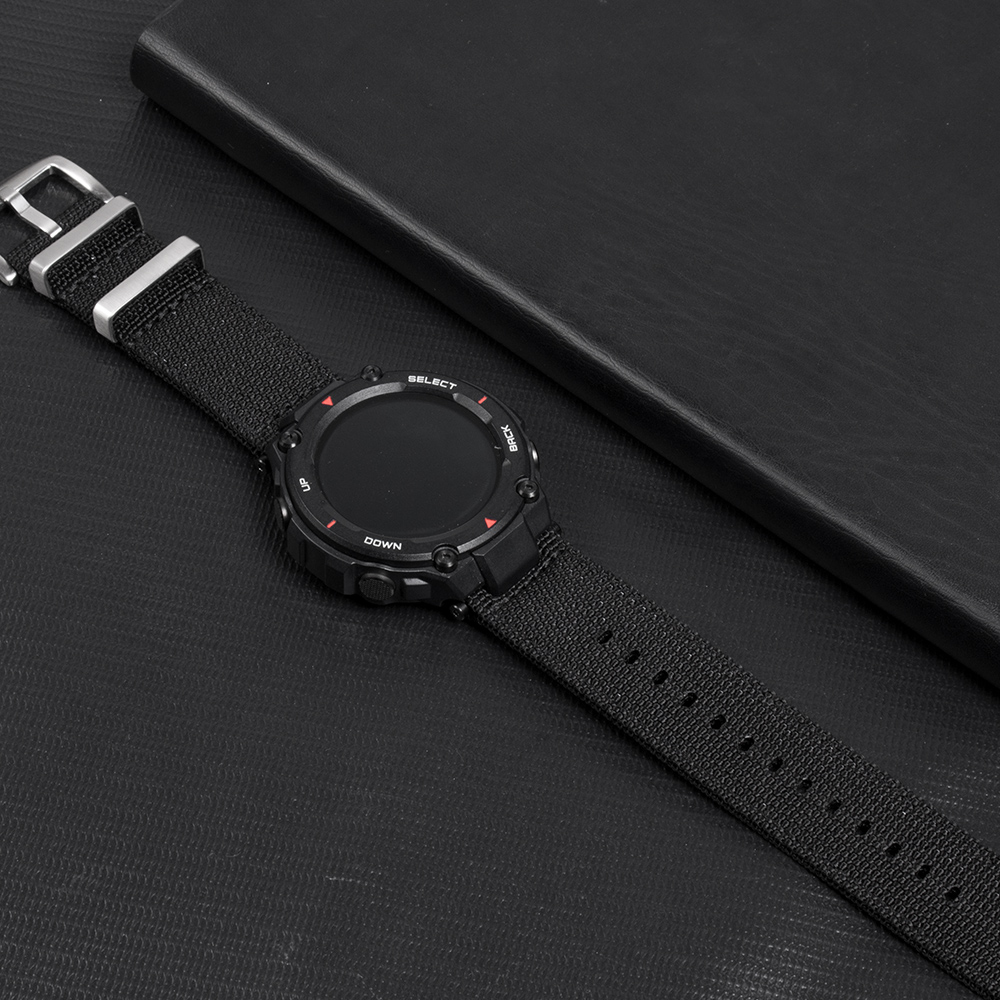 NATO Nylon Watch Band For Amazfit T-Rex Watch Charger Canvas Watch Strap For Huami T-Rex Watch Screen Film Watch Charging Dock