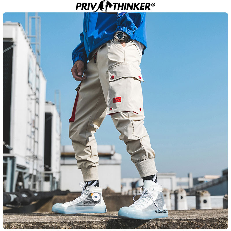 Privathinker Men Japanese Loose Hip Hop Harem Pants Men's Fashion Silm-fit Cargo Pants 2019 Male Autumn Harajuku Jpggers Clothes