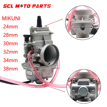 ALconstar-Carburador de motocicleta para 200cc-250cc, Carburador de 4 tiempos MIKUNI TM24/28/30/32/34/38mm, Carburador de smootbore plano