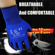 Полиуретановые нитриловые защитные перчатки с покрытием ладони перчатки для механики рабочие перчатки защитные перчатки
