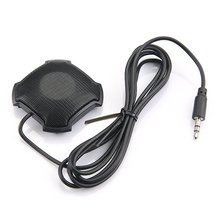 Omnidirectional Pickup Mic with 3.5mm Audio Jack Condenser Conference Microphone for Skype VOIP Call Voice Chat Drop Shipping tyless usb plug computer tabletop omnidirectional condenser boundary conference microphone for recording gaming skype voip call
